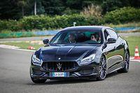 Schnell unterwegs: der Maserati Quattroporte Trofeo.