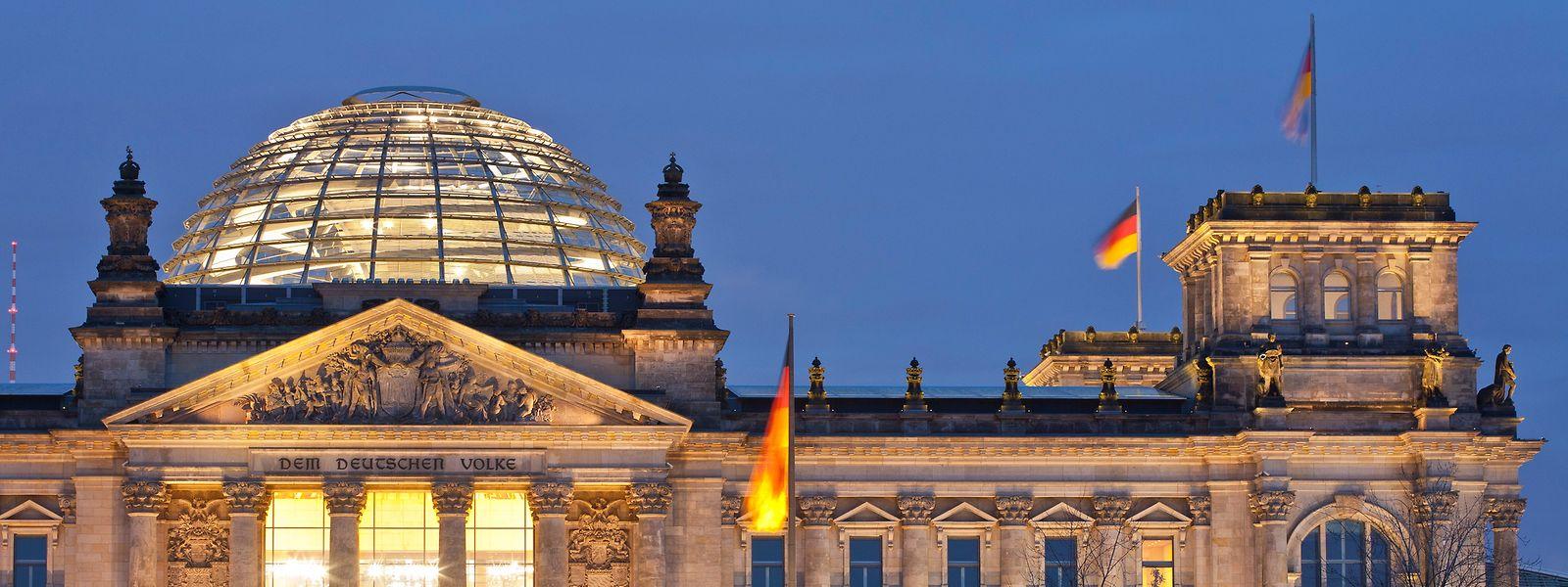 Der Deutsche Bundestag in Berlin umfasst 92 AfD-Abgeordnete.
