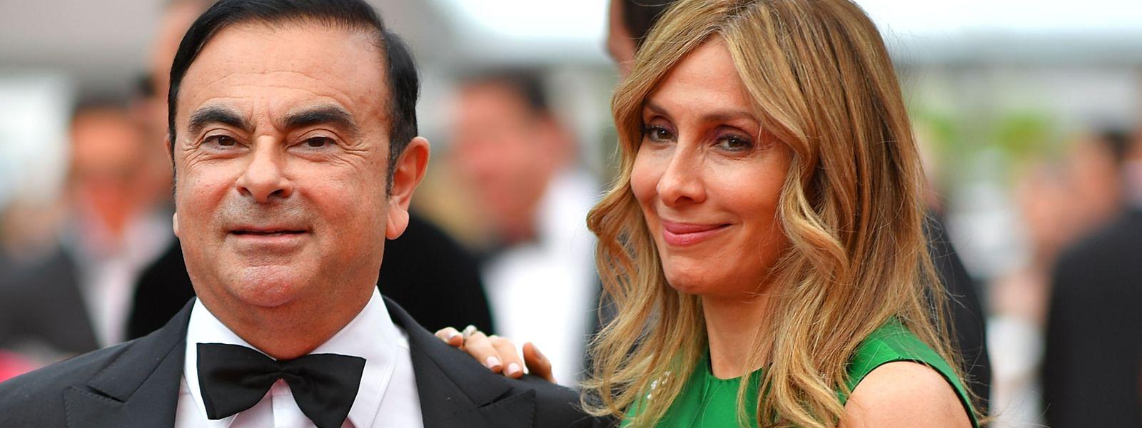 Carlos Ghosn mit seiner Ehefrau Carole.