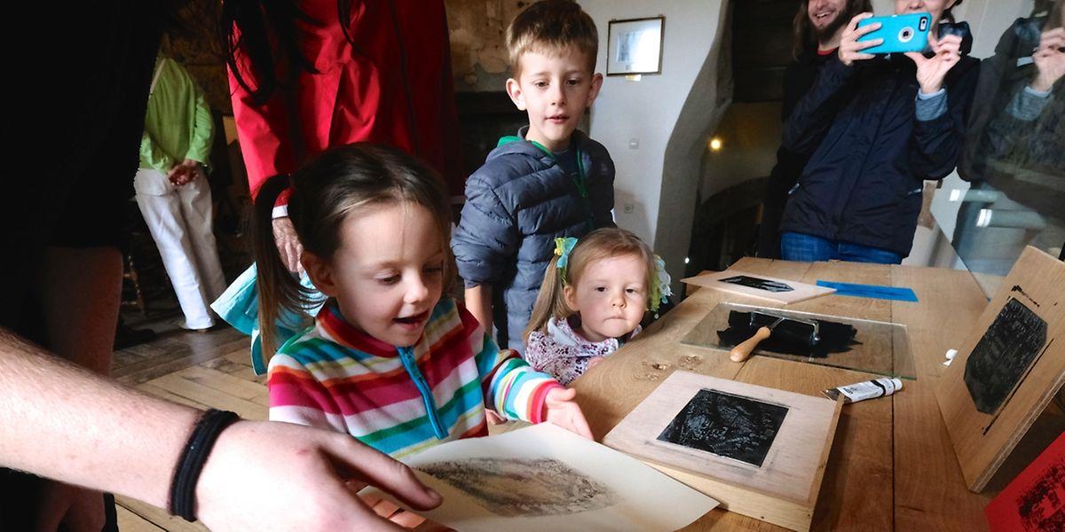 """Auch die Kleinsten kamen bei den """"Veiner Béicherdeeg"""" auf ihre Kosten."""