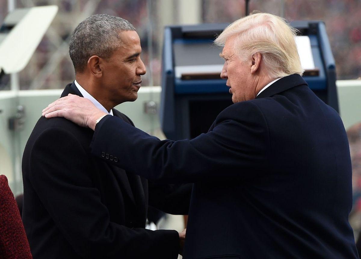 Barack Obama e Donald Trump.