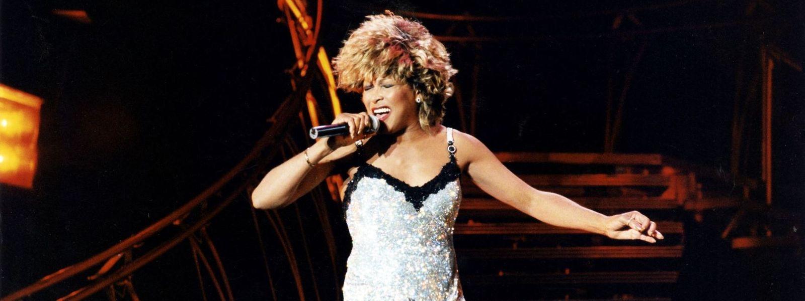1996 in Luxemburg: Tina Turner begeisterte im Stade Josy Barthel rund 25.000 Fans.