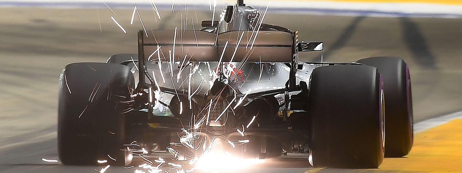 Mercedes-Pilote Lewis Hamilton erkämpfte sich die Pole Position in Singapur.