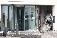Sprengung Bankomat Raiffeisen in Remich.Foto: Gerry Huberty/Luxemburger Wort