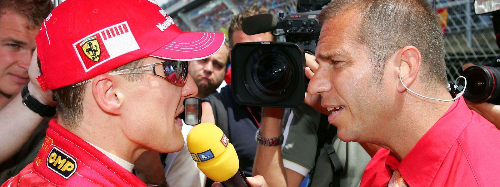 Kai Ebel und RTL gehören für viele Luxemburger einfach zur Formel 1 dazu. Auch Michael Schumacher plauderte gerne mit dem Reporter.