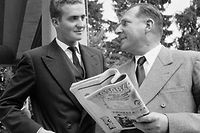 Juan Carlos com o seu pai.
