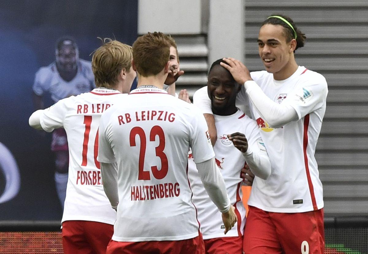 Die Leipziger Spieler hatten allen Grund zur Freude.