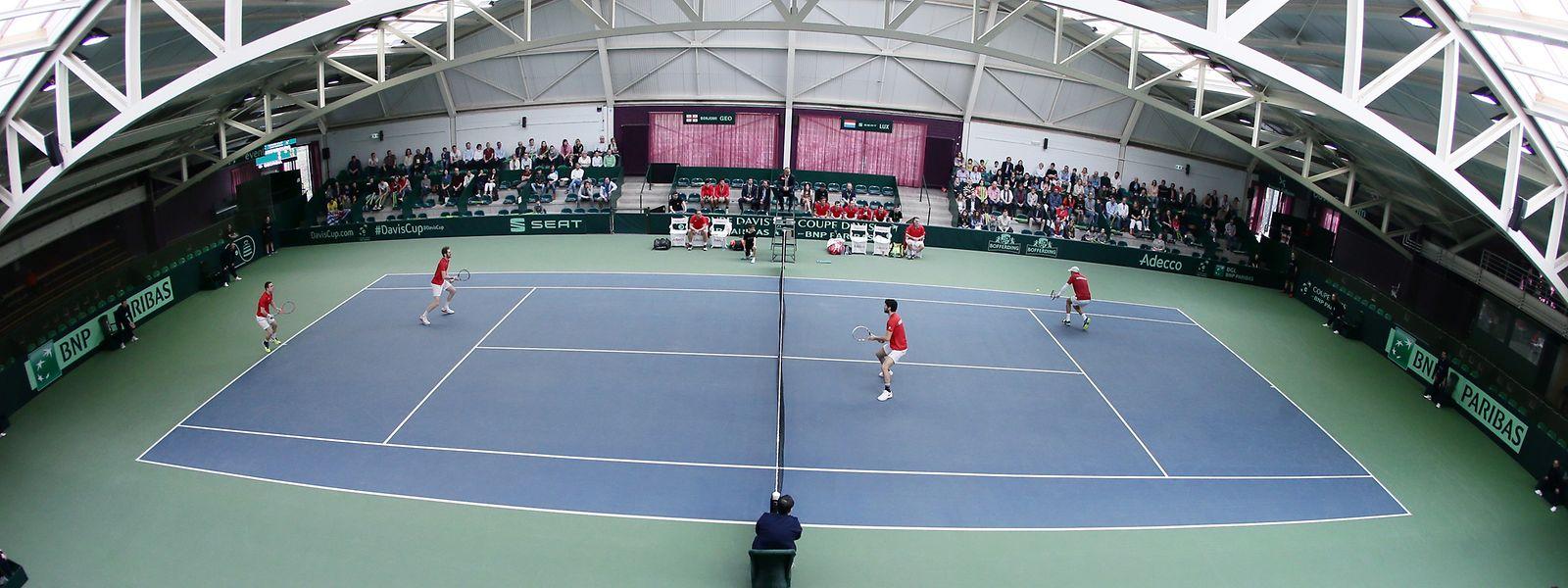 Das nationale Tenniszentrum in Esch/Alzette.