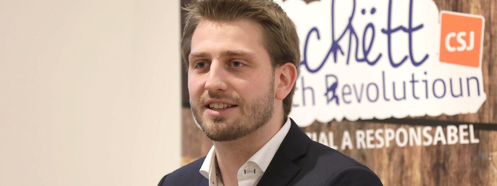 """""""Wenn wir noch zwei Jahre so weitermachen, können wir den Anspruch, eine Volkspartei zu sein, vergessen"""", sagte Alex Donnersbach am Samstag beim digitalen CSJ-Kongress. Er wurde für eine weitere Mandatsperiode als CSJ-Präsident bestätigt."""