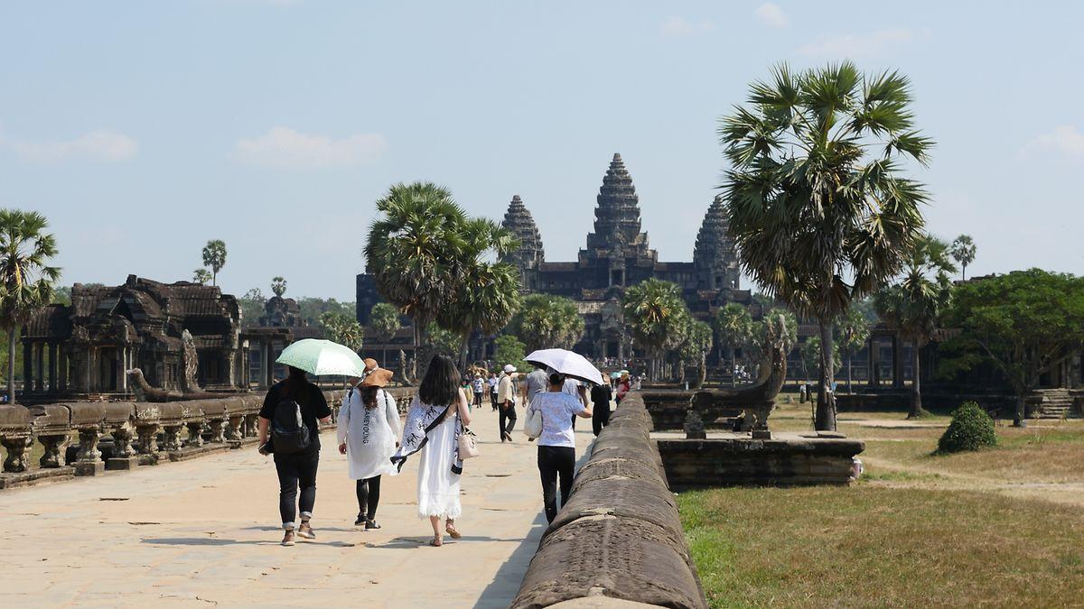 Die Tempelanlage Angkor Wat zieht Besucher aus aller Welt nach Kambodscha.