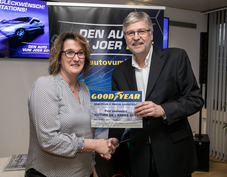 Christiane Schreurs und Jean-Paul Brück (Goodyear)