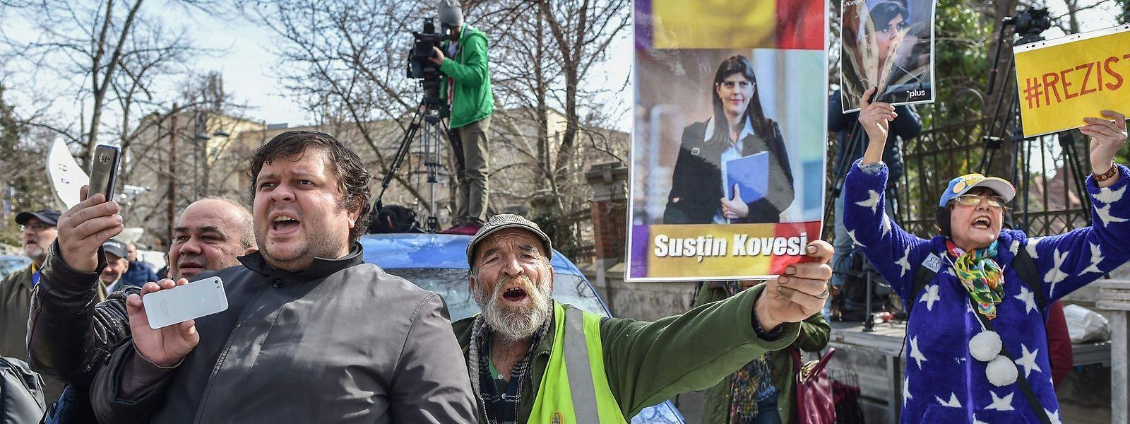 Laura Kövesi gilt als Sauberfrau und hat in Rumänien viele Unterstützer.