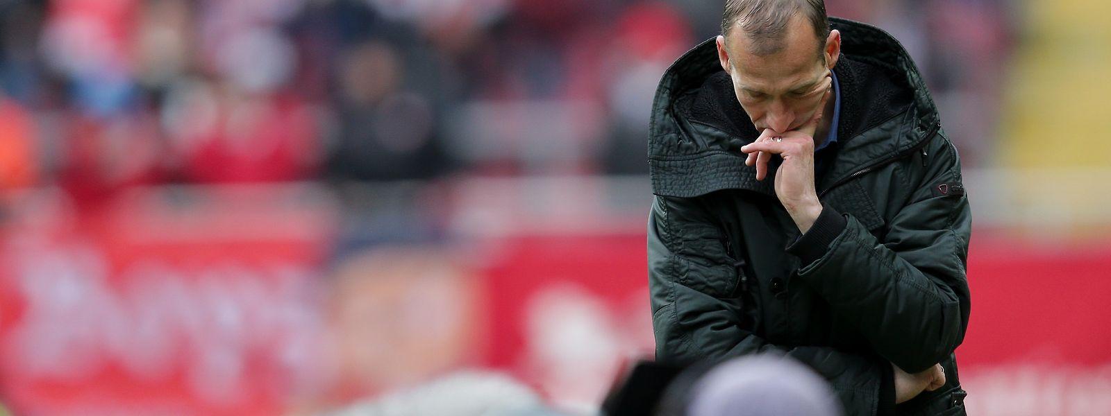 Jeff Strasser ist enttäuscht. Kaiserslautern unterlag Biefeld mit 0:2.
