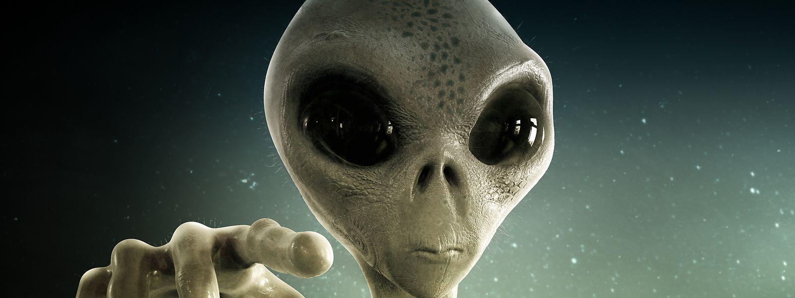 Die gängige Vorstellung, wie ein Marsianer aussehen könnte: riesige Augen und grüne Haut.