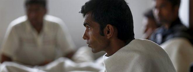 In Griechenland, wie hier auf der Insel Kos, schlafen viele Flüchtlinge in verlassenen Hotels.