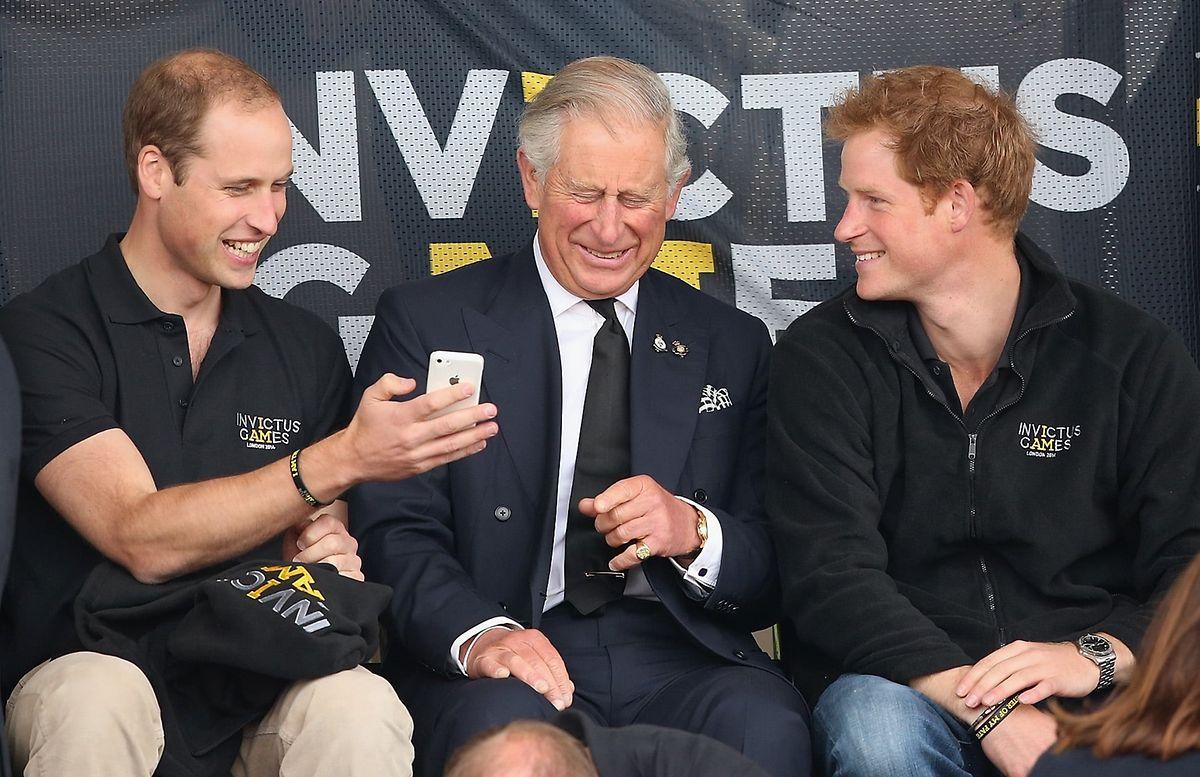 William, príncipe Carlos e Harry, na primeira edição dos Jogos Invictus.