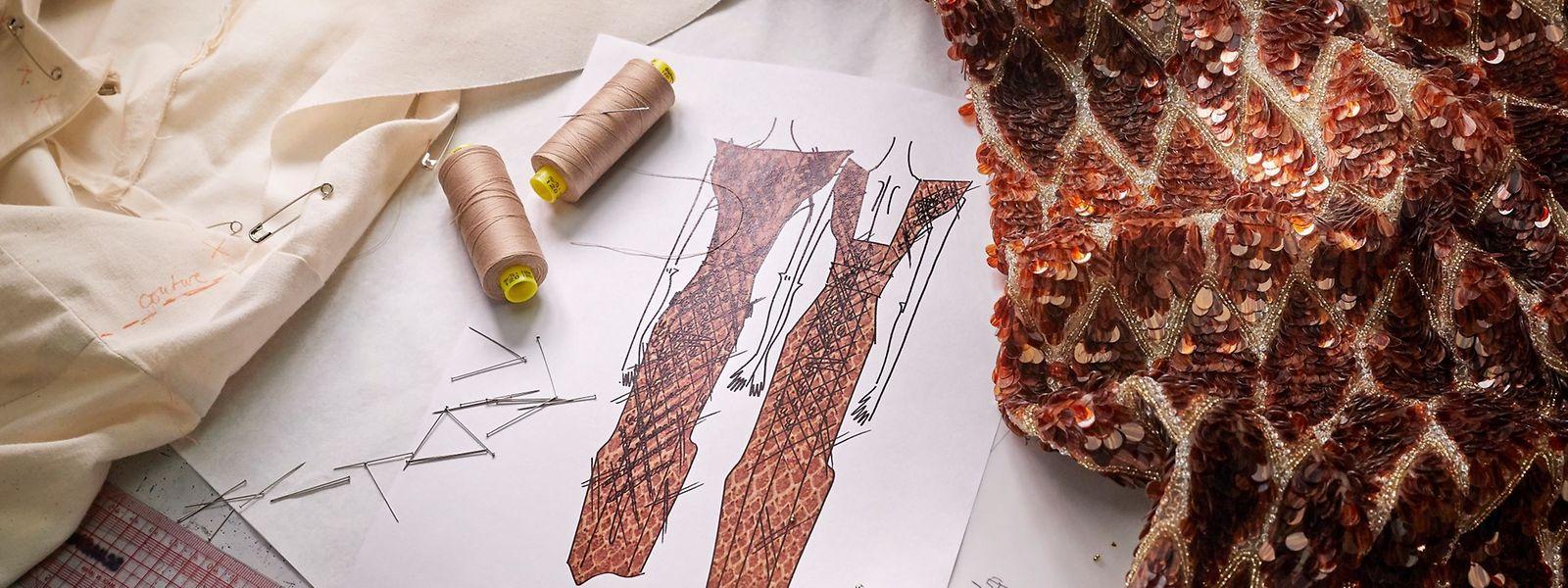 Von der Skizze zum Kleid - Einblick in das Atelier von Louis Vuitton.