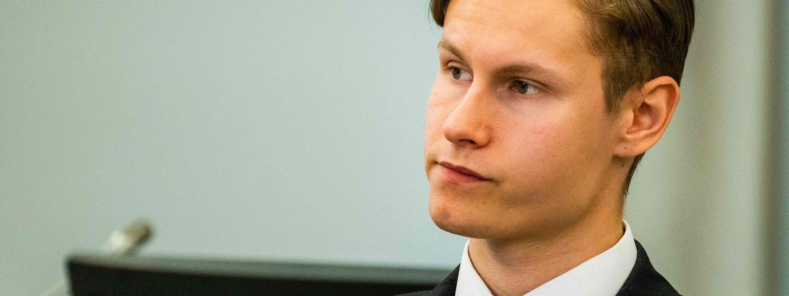 Philip Manshaus vor Gericht.