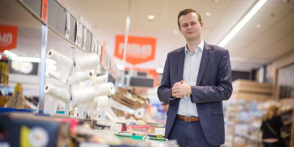 Er bestimmt, was in die Regale kommt: Denys Vandenrijt ist Verkaufsleiter von Lidl Luxembourg.