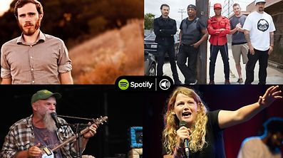 Playing in Luxembourg in June: Top left - James Vincent Mcmorrow (Siren's Call festival), top right - Prophets Of Rage, bottom left - Seasick Steve, bottom right - Kate Tempest