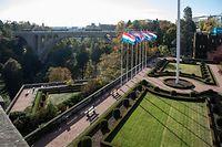 12.10. Gelle Fra /   Fahne Luxemburg / Identität / Nation / Nationalität / Luxemburg / Letzebuerg / Stadt Luxemburg / Peitruss Foto.Guy Jallay