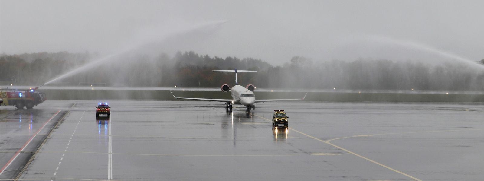 Der SAS-Jet wurde passend begrüßt.