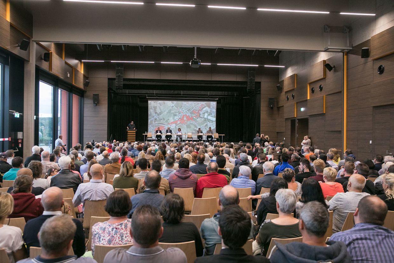 Die Informationsversammlung zum Tornado in Käerjeng.