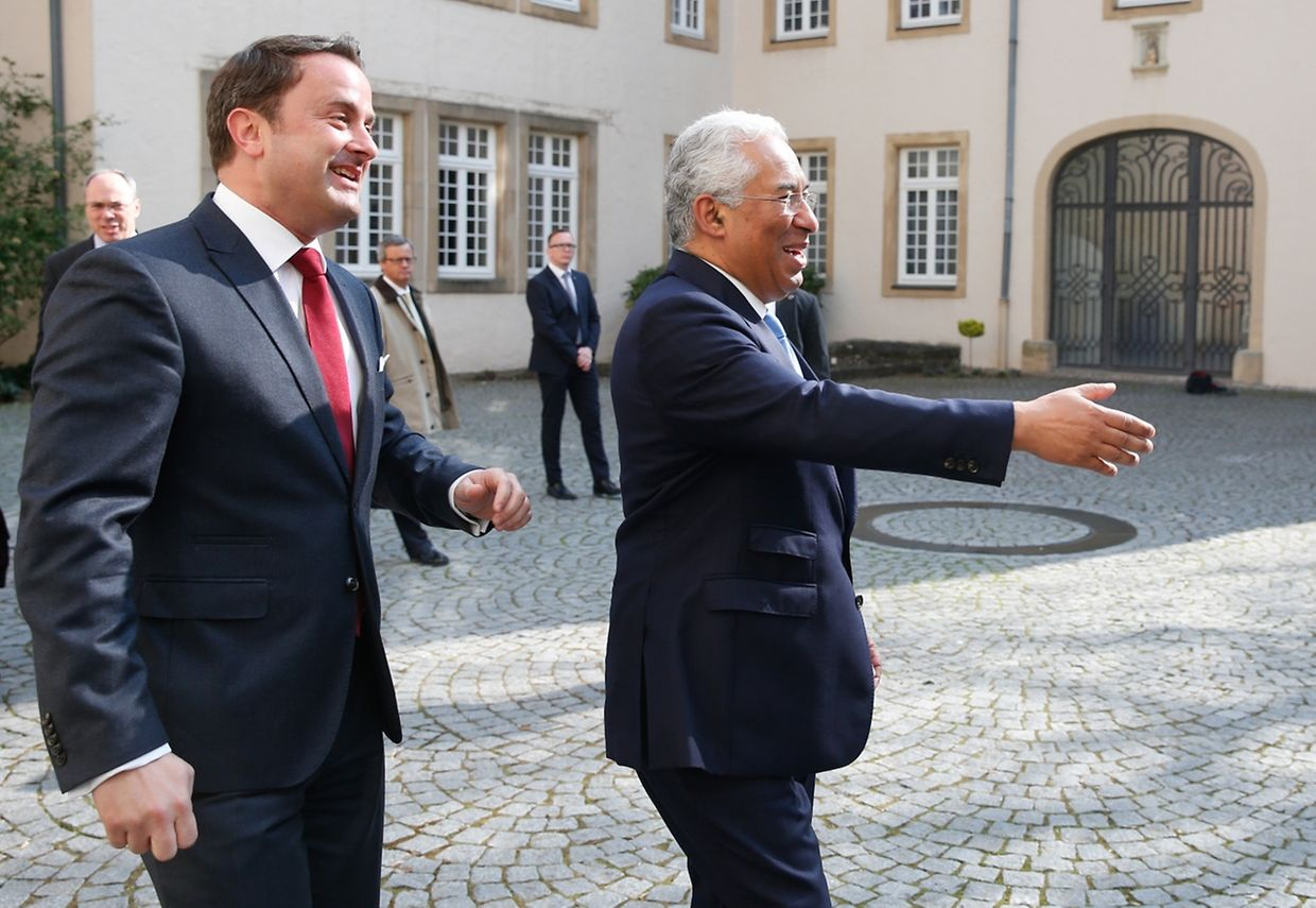 Visite Officielle du Premier Ministre Portugais Antonio Costa, Xavier Bettel, le 05 Avril 2017. Photo: Chris Karaba