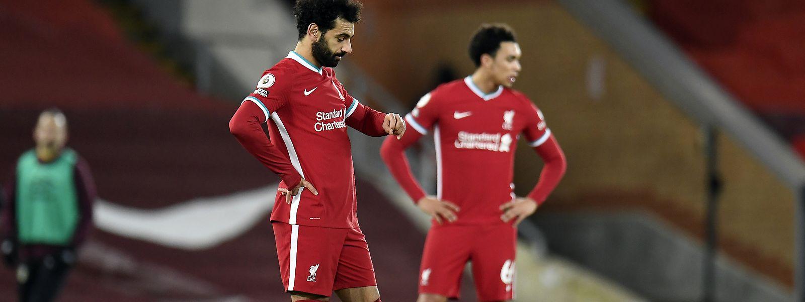 Mohamed Salah und Trent Alexander-Arnold (r.) vom FC Liverpool müssen wieder in die Erfolgsspur zurückfinden.