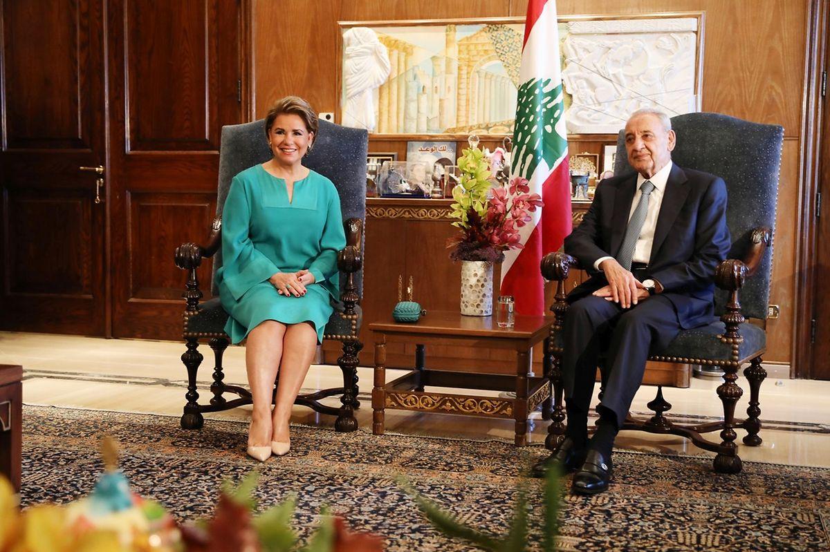 La Grande-Duchesse auprès du président Michel Aoun.