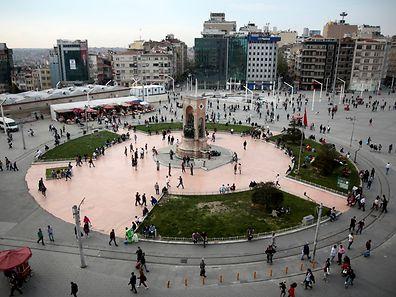 Der Taksim-Platz im Herzen Istanbuls ist für Gewerkschaften von historischer Bedeutung.
