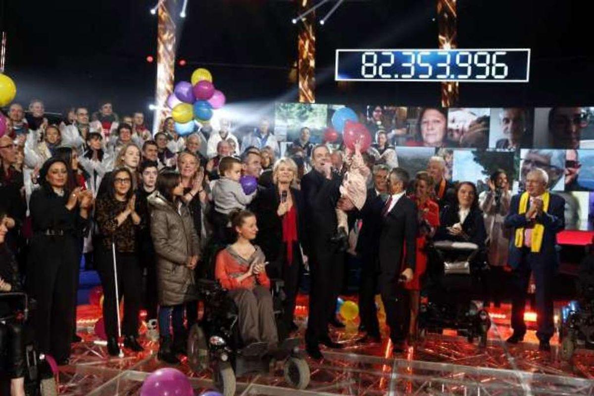 Après 30 heures de direct sur les chaînes du service public, le compteur affichait 82.353.996 euros, a annoncé l'Association Française contre les Myopathies.