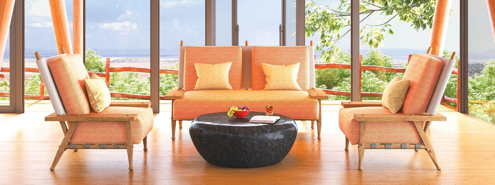 Auch Stardesigner und -architekt Philippe Starck war mit einer neuen Kollaboration in Mailand vertreten. Gemeinsam mit dem US-amerikanischen Outdoor-Möbelhersteller JANUS et Cie wurde die Serie Serengeti vorgestellt.