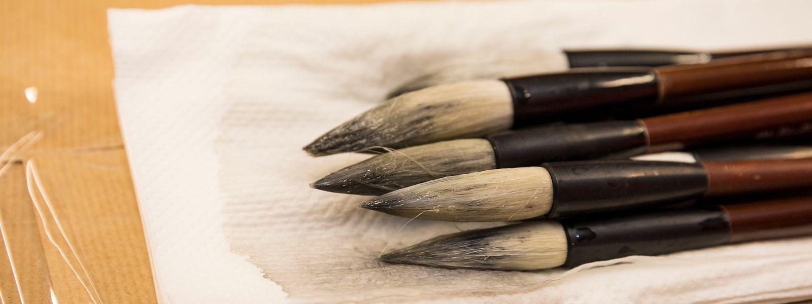 Schreibpinsel aus Ziegenhaar.