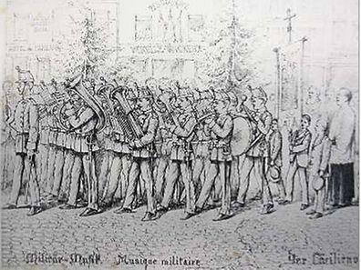 In 31 Zeichnungen hat Michel Engels im Jahr 1893 die Schlussprozession der Muttergottesoktave festgehalten.