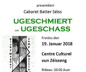 Cabaret Batter Séiss - UGESCHMIERT an UGESCHASS