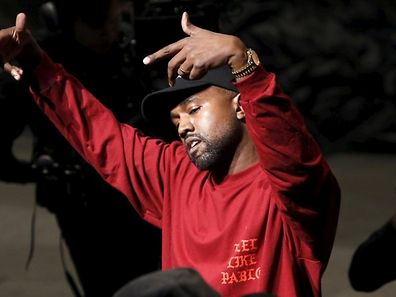 """Kanye West dances during his Yeezy Season 3 Collection presentation and listening party for the """"The Life of Pablo"""" album during New York Fashion Week February 11, 2016. REUTERS/Andrew Kelly"""