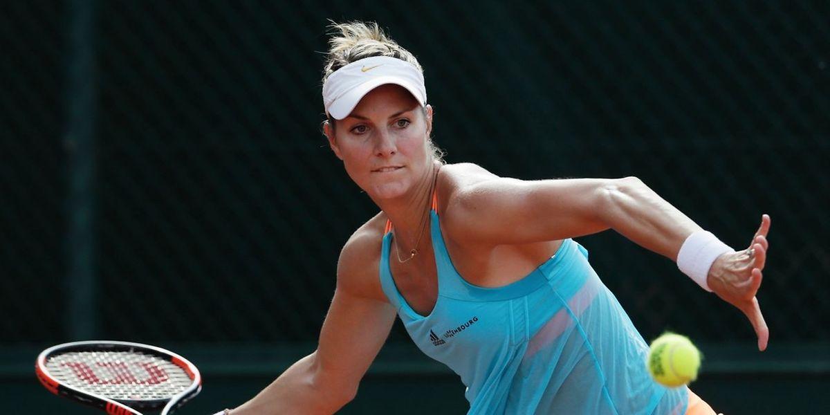 Mandy Minella n'a laissé que trois jeux à sa jeune adversaire, l'Allemande Lena Rueffer, ce jeudi en 8e de finale à Stuttfgart-Vaihingen