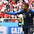 France's forward Kylian Mbappe celebrates scoring the opening goal during the Russia 2018 World Cup Group C football match between France and Peru at the Ekaterinburg Arena in Ekaterinburg on June 21, 2018. / AFP PHOTO / Anne-Christine POUJOULAT / RESTRICTED TO EDITORIAL USE - NO MOBILE PUSH ALERTS/DOWNLOADS