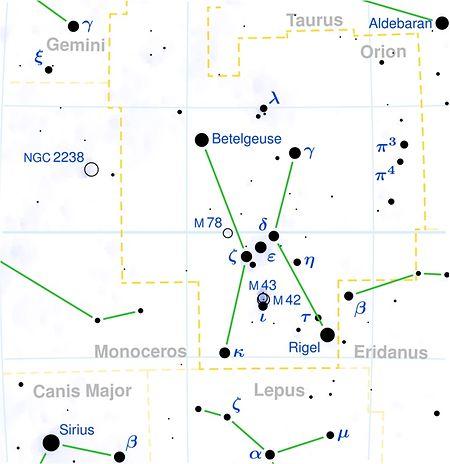 Beteigeuze im Sternbild Orion.