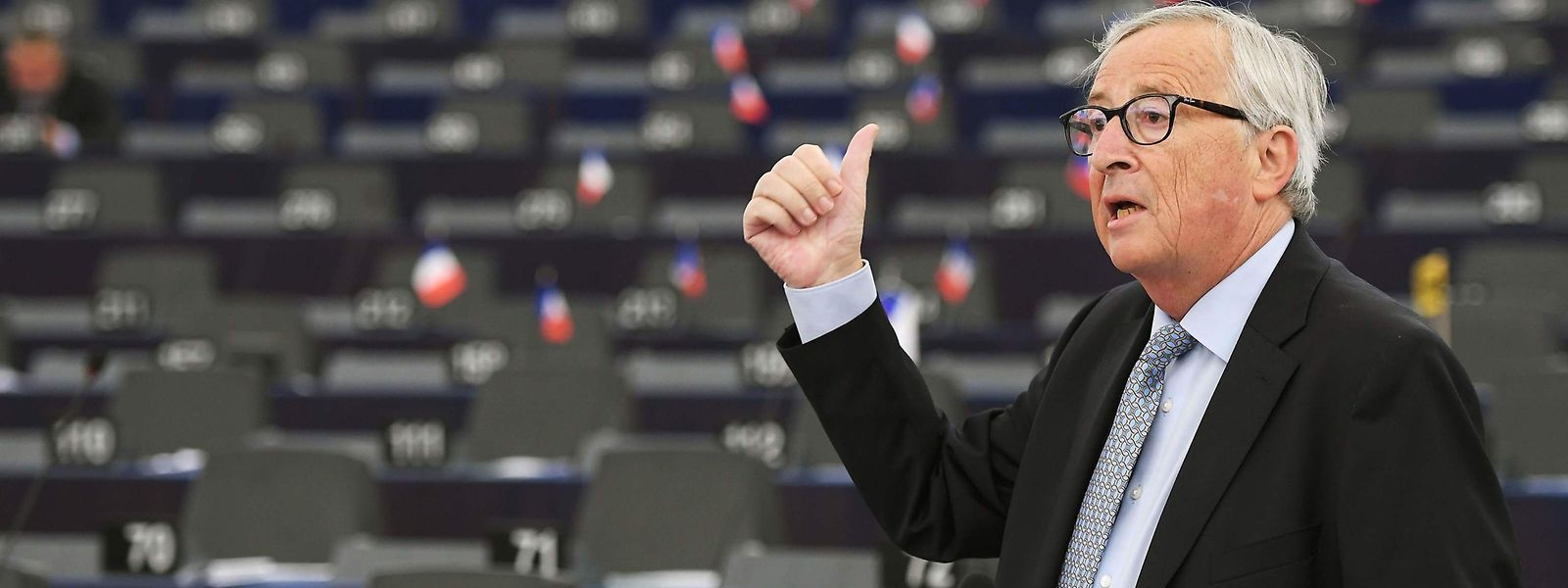 Während Junckers Rede blieben erstaunlich viele Plätze im Plenum des EU-Parlaments leer.