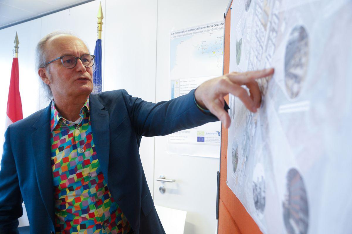 Pour le ministre Claude Turmes, la voiture n'a pas forcément sa place au milieu de ce nouveau quartier.