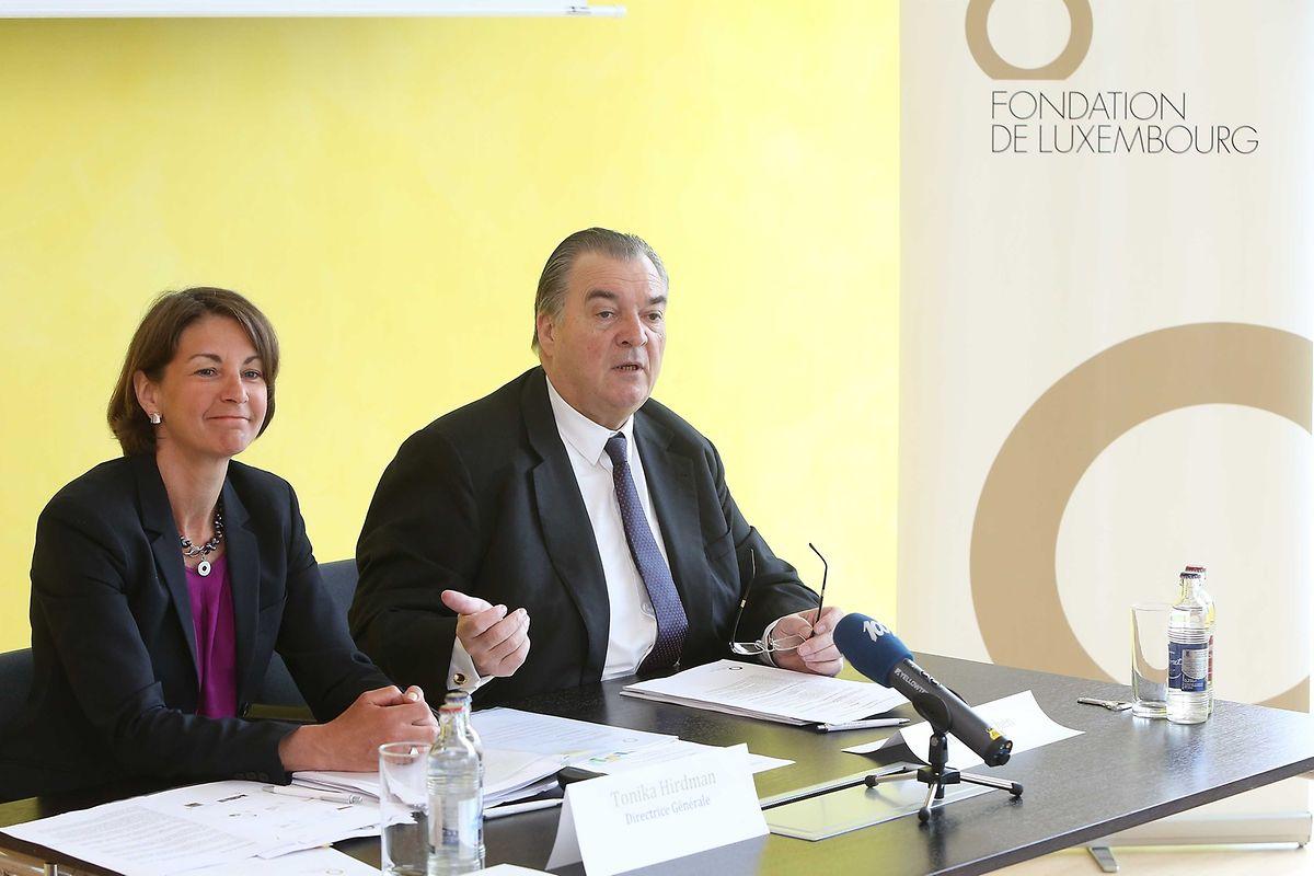 Tonika Hirdman, directrice générale, et Henri Grethen, président de la Fondation de Luxembourg, se sont montrés satisfaits de l'année écoulée.