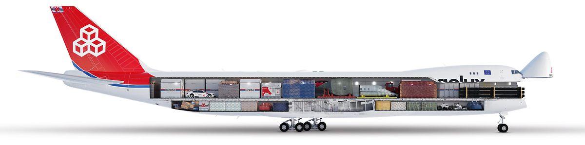 Le Boeing 747-8 peut transporter plus de 100 tonnes de fret