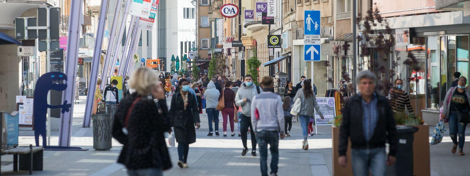 Am Freitag herrschte reger Betrieb in der Escher Fußgängerzone.