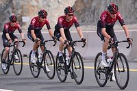 INEOS team rider Chris Froome of England (R) rides during the second stage of the UAE Cycling Tour from Hatta to Hatta Dam, on February 24, 2020. (Photo by GIUSEPPE CACACE / AFP)