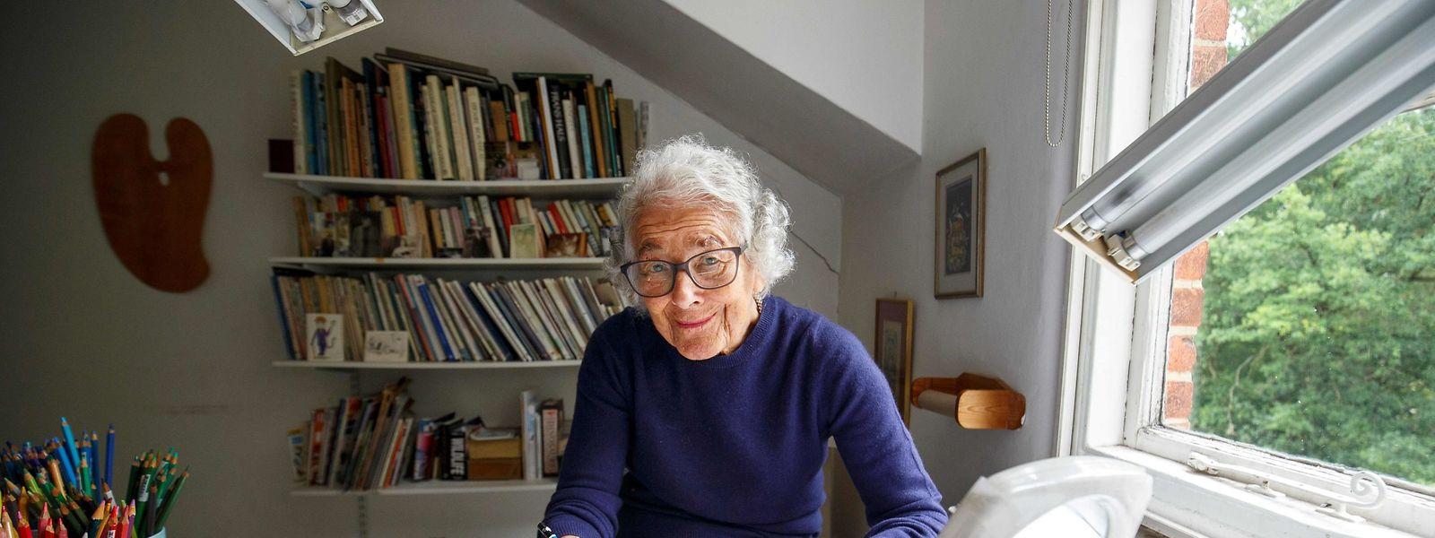 Die Kinderbuchautorin Judith Kerr, in ihrem Haus in West-London im Juni 2018.