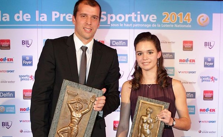 Gilles Muller (tennis) et Jenny Warling (karaté), lauréats en 2014