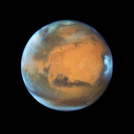 """Das von der NASA verbreitete Foto zeigt den Planeten Mars, aufgenommen vom """"Hubble""""-Weltraumteleskop."""