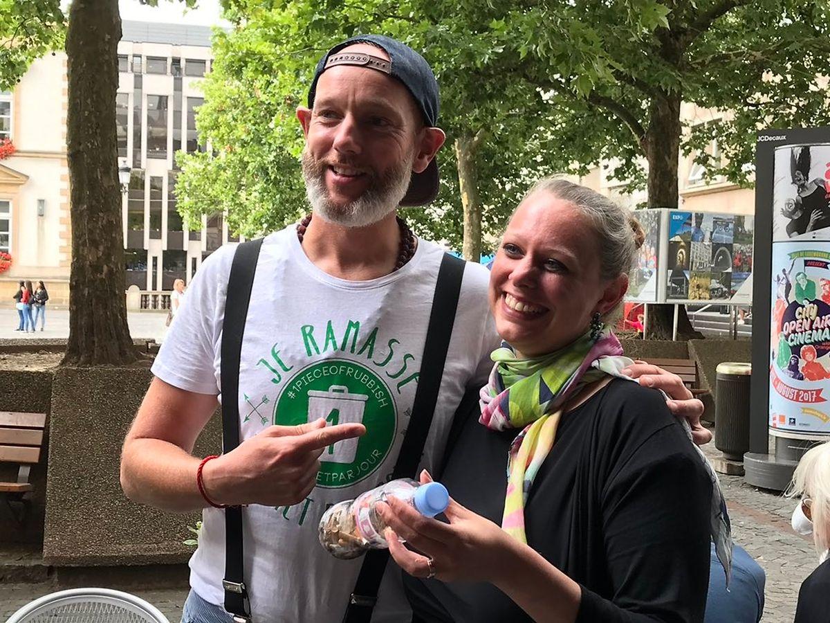 Carole Dieschbourg a pris un peu de son temps pour rencontrer Eddy et parler des actions du Luxembourg pour l'écologie.